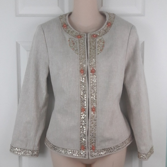 Margaret Frances Jackets & Blazers - Margaret Frances Evening Jacket Sequin Detail Sz 8